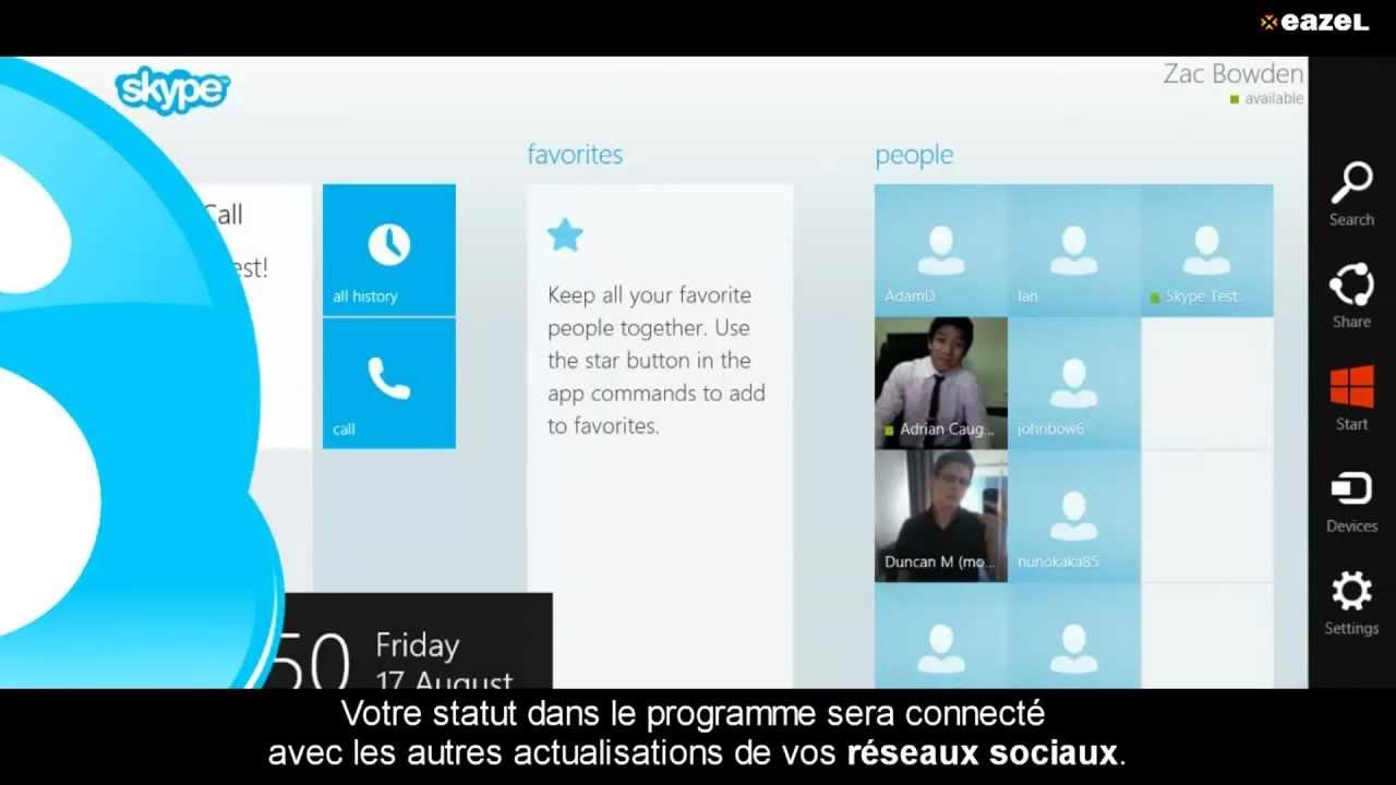 Skype pour windows 8 en fran ais eazel youtube - Open office en francais pour windows 8 ...