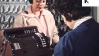 1960s Shopping, Ladies Shoe Shop, Vintage Cash Register, Till
