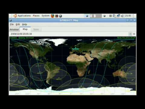Gpredict Satellite Tracking with the Asus Eee PC 701