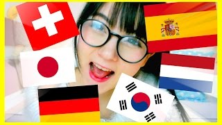 TALKING IN 7 LANGUAGES! German, Japanese, Spanish, Korean, Dutch & Swiss German