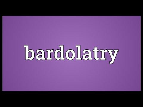 Header of bardolatry