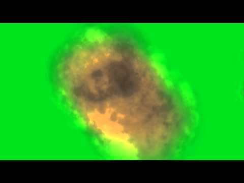 GREEN SCREEN FIRE EXPLOSION
