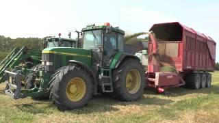 Silage 2013 John Deere 7710 with JF Stoll loader wagon 2013