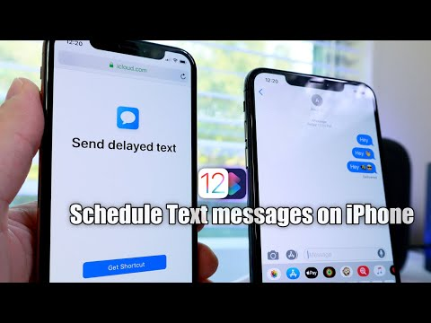 Schedule Text Messages on iPhone in iOS 12