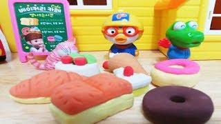 Pororo Toys and Bakery Shop  Robocar Poli Play set toy 뽀로로 베이커리 샵에서 놀아요