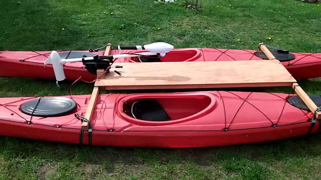 Kayak Catamaran With Electric Trolling Motor Haswing