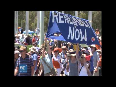 Thousands rally for climate change in Australia