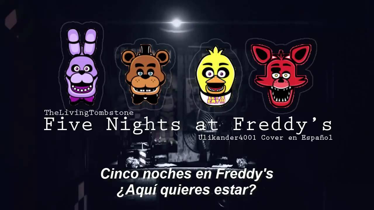 Five nights at freddy s song versi 243 n en espa 241 ol youtube