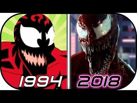 EVOLUTION of CARNAGE in Movies, Cartoons, TV (1994-2018) Carnage vs Venom 2018 trailer 2 movie scene