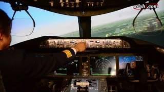全日空B-787フライトシミュレーター公開