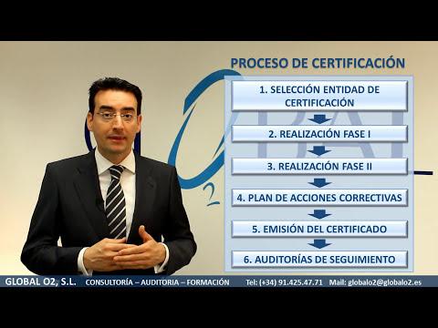 Proceso Certificación ISO 9001, ISO 14001, OHSAS 18001, ISO 50001 GLOBAL O2 Tel: 914254771