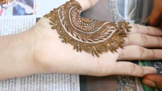 Morroccan Indo Mehendi:Semi Western Mehndi Application 2016 Class