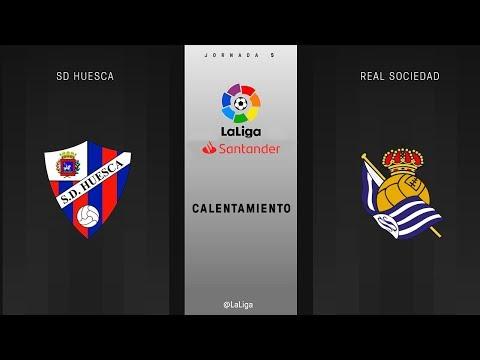 Calentamiento SD Huesca vs Real Sociedad