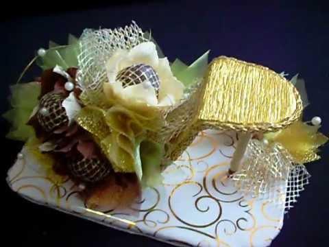 """Подарок из конфет """"Три орешка для золушки"""""""