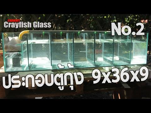 สอนประกอบตู้เลี้ยงกุ้งกระจก5มิล 9x36x9  6 ช่องเลี้ยงพร้อมทำหวี ตอนที่ 2