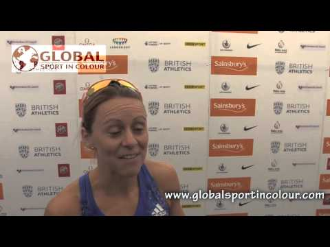 Jenny Meadows Post Diamond League interview - Birmingham 2015