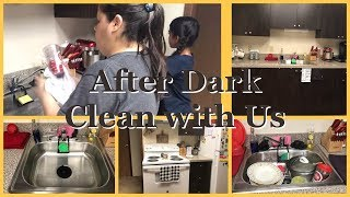 After Dark Cleaning | Dinner Clean Up with My daughter | Music Only