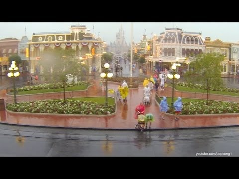 Heavy Rains at the Magic Kingdom Walt Disney World 2013 June 8th