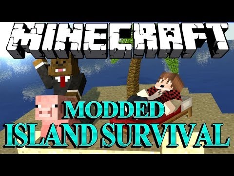 HEALER DESTRUCTION Minecraft Modded Survival Island Let's Play w/ BajanCanadian! #9