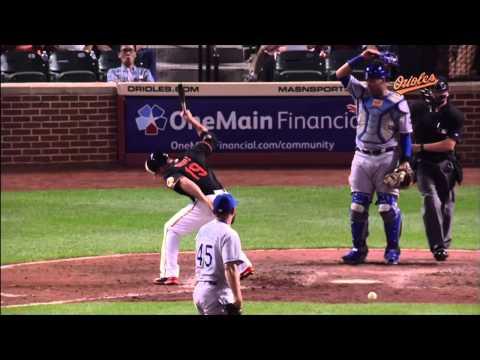 Chris Davis Hit by Pitch