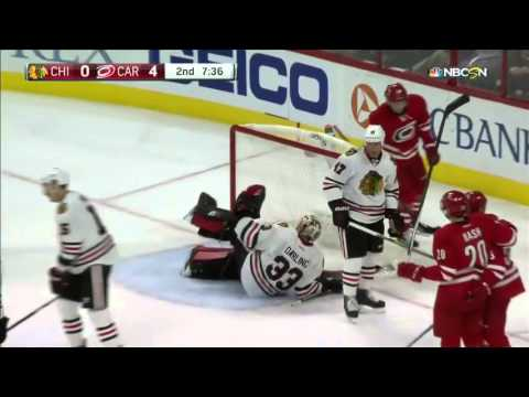 Blackhawks @ Hurricanes Highlights 01/26/16
