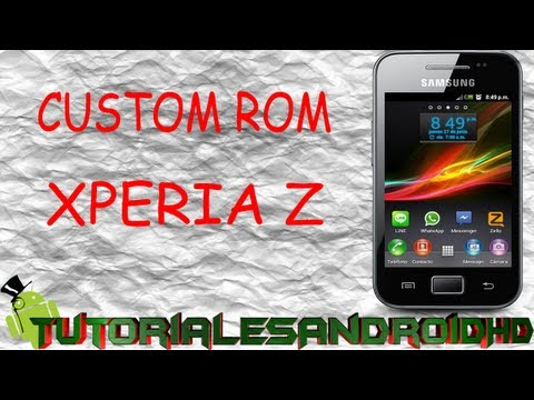 Tutorial XPERIA Z ROM 100% ESTABLE Estilo Xperia Z para Galaxy Ace s5830i (Custom ROM)