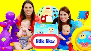 CUTE BABY PLAYGROUND PARK Little Tikes! Babies Little Ocean DisneyCarToys TWINS Video