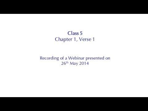 The Essence of the Bhagavad Gita, Class 5 - Chapter 1, Verse 1