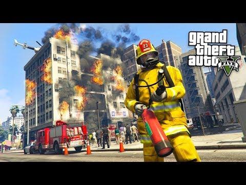 GTA 5 Игра за Пожарного #2 - СМЕРТЕЛЬНЫЙ ПОЖАР!! (ГТА 5 МОДЫ)