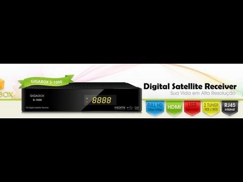 GigaBox S-1000 IKS Atualizando, configurando e fazendo busca de canais!