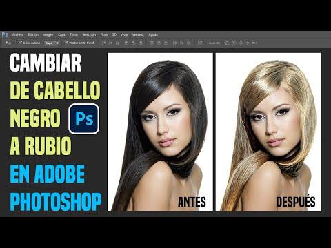 Retoque Fotográfico Cambio de Color Cabello Oscuro a Rubio en Photoshop.