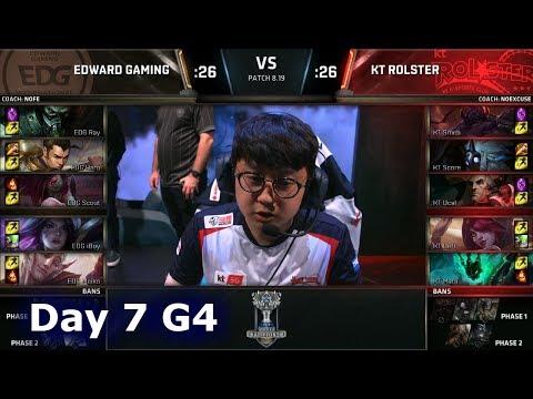 EDG vs KT   Day 7 Group C Decider S8 LoL Worlds 2018   Edward Gaming vs KT Rolster