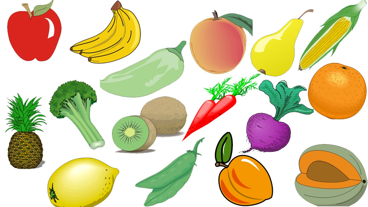 Овощи картинки для детей цветные - 9a
