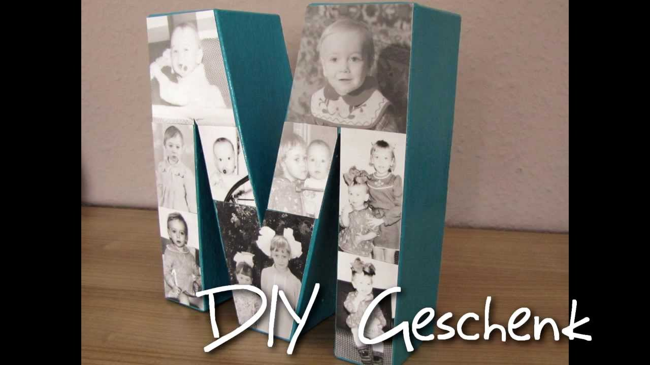 diy geschenk buchstaben bilderrahmen youtube. Black Bedroom Furniture Sets. Home Design Ideas