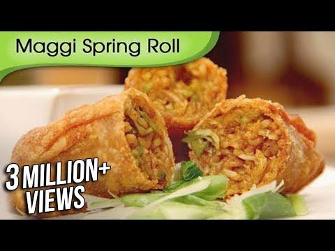 Maggi Noodles Spring Roll - Fast Food Recipe by Ruchi Bharani - Vegetarian [HD]