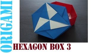 Origami Daily - 436: Hexagon Box Lid Ver. 3 (modular 3 Unit) - Tcgames [hd]