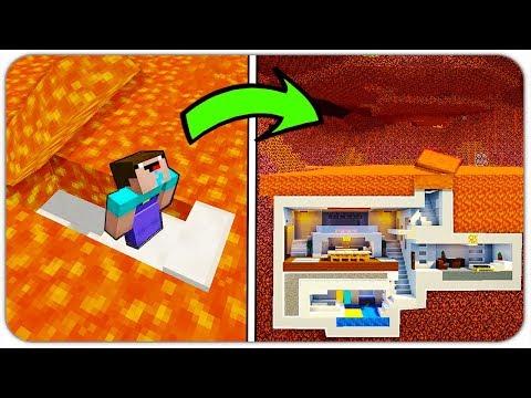 НУБ НАШЁЛ СЕКРЕТНУЮ БАЗУ в АДУ в МАЙНКРАФТ! (СЕКРЕТНЫЙ ДОМ ПОД ЛАВОЙ) Лаки Блоки Minecraft