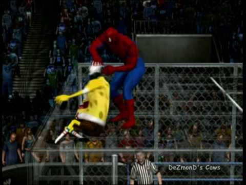 DeZmonD's SVR10 Caws - Spiderman vs Spongebob