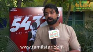 Shabhir At 54321 Movie Team Interview