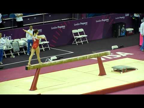 Elisabetta Preziosa ITA BB - 2012 Test Event podium training