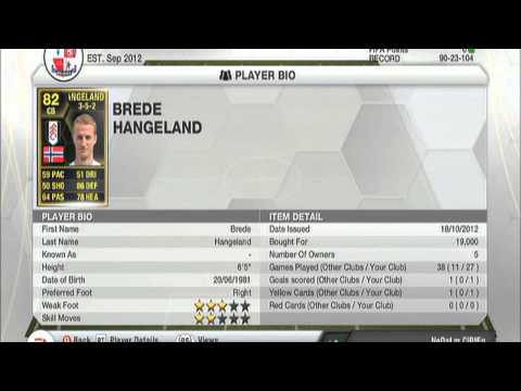 IF Brede Hangeland Giveaway - FIFA 13 (CLOSED)