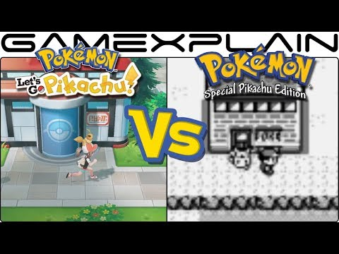 Pokémon Let's Go, Pikachu & Eevee vs. Pokémon Yellow - Graphics Comparison (Switch vs Game Boy)