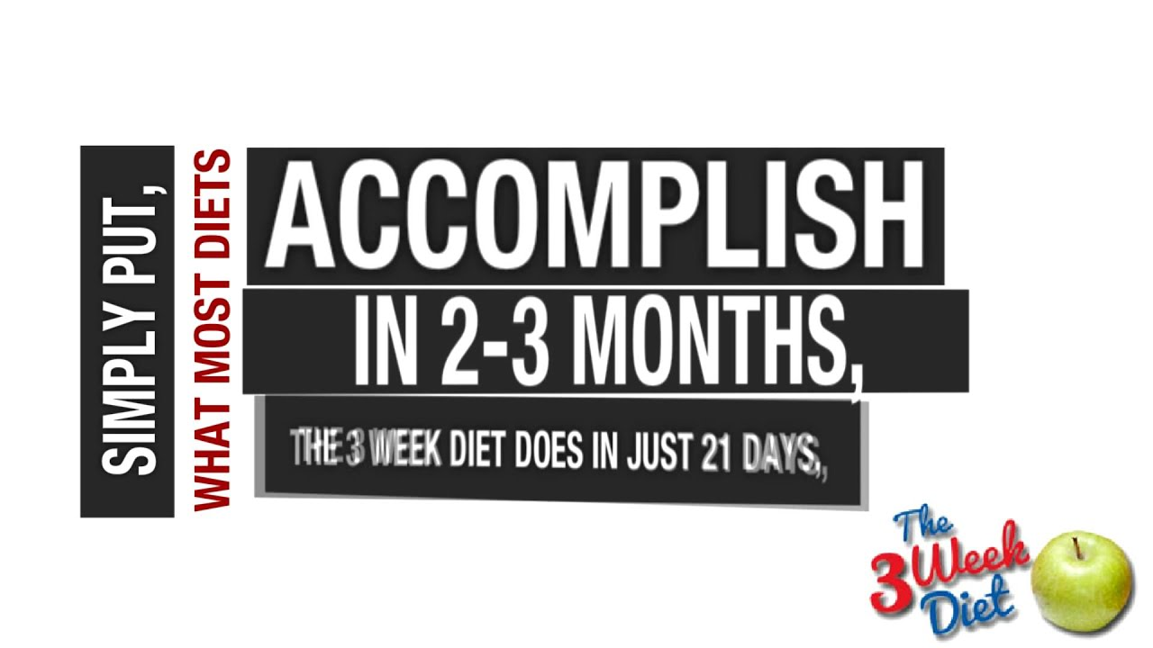[The 3 Week Diet Plan] Video