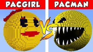 PACMAN vs PAC-GIRL  - PvZ vs Minecraft vs Smash