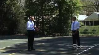 President Obama Plays HORSE with CBS' Clark Kellogg