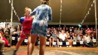 Four women outback tent fight  Australia  - Birdsville 2015