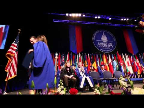 Surprise Marriage Proposal - American University Commencement