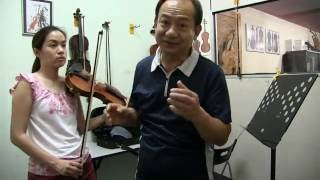 Violin Playing Left Hand Shape