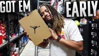 GOT EM EARLY !!! THESE HAVE A LOT OF HYPE BUT I MAY BE SLEEP !!! EARLY SNEAKER PICKUP VLOG !!!