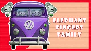 Wheels On The Bus Go Round And Round || Elephant Version || 3D Animation Rhymes